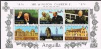 Anguilla SGMS187 1974 Birth Centenary of Sir Winston Churchill Miniature Sheet unmounted mint